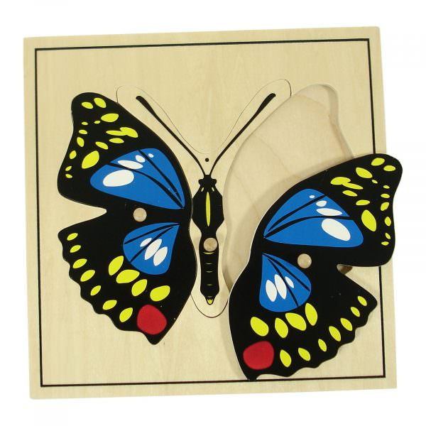 Mariposa de madera montessori