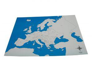 lámina sin etiquetar para puzzle geográfico montessori