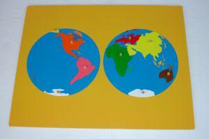 mapa mundi montessori