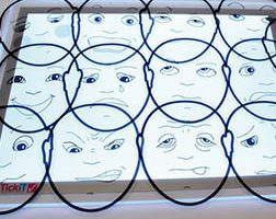 caras con expresiones transparentes