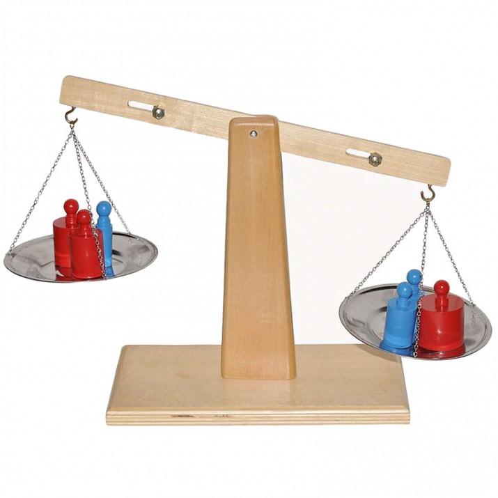 Pesos Con Balanza De Madera Montessori 76fYbgyv